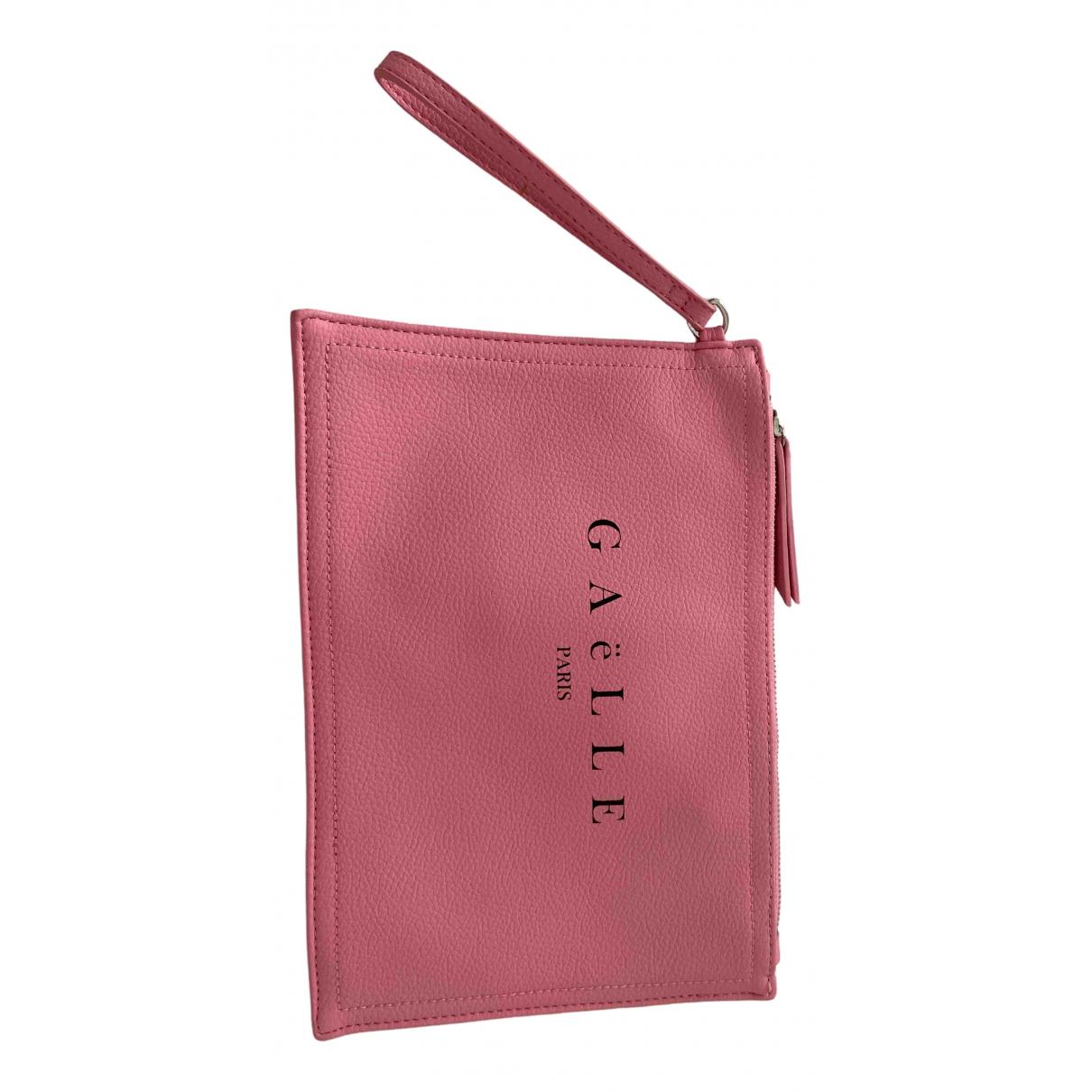 Gaelle Paris N Pink Leather Clutch bag for Women N