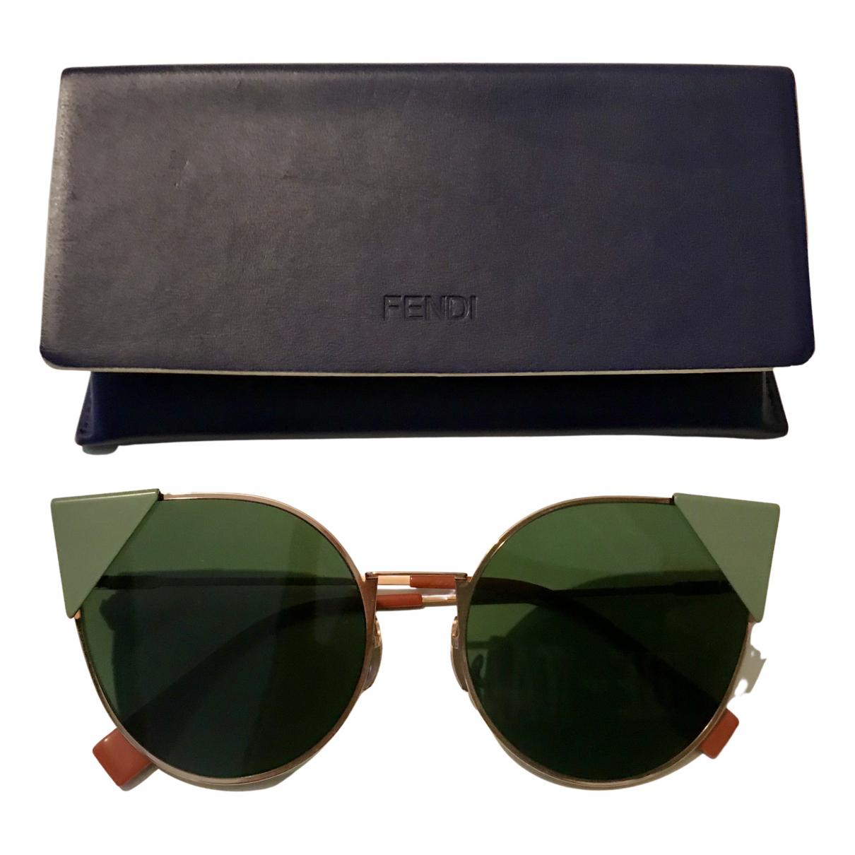 Fendi N Green Metal Sunglasses for Women N