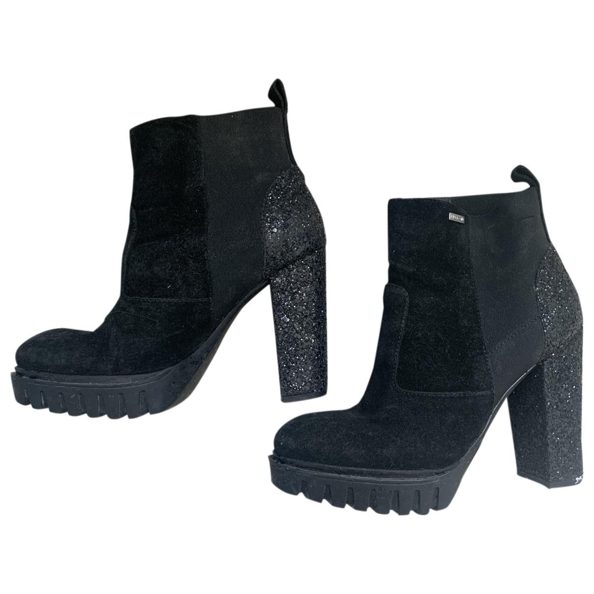 Liu.jo - Boots   pour femme en a paillettes - noir