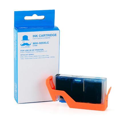 Compatible HP 920XL CD972AN cartouche d'encre cyan haute capacité - Moustache®