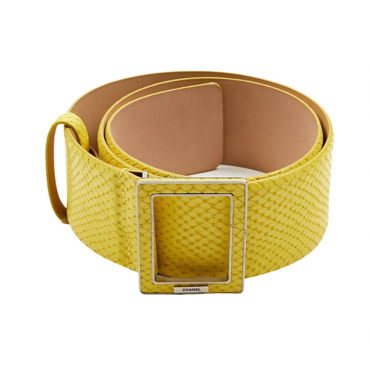 Chanel \N Yellow Leather belt for Women 75 cm