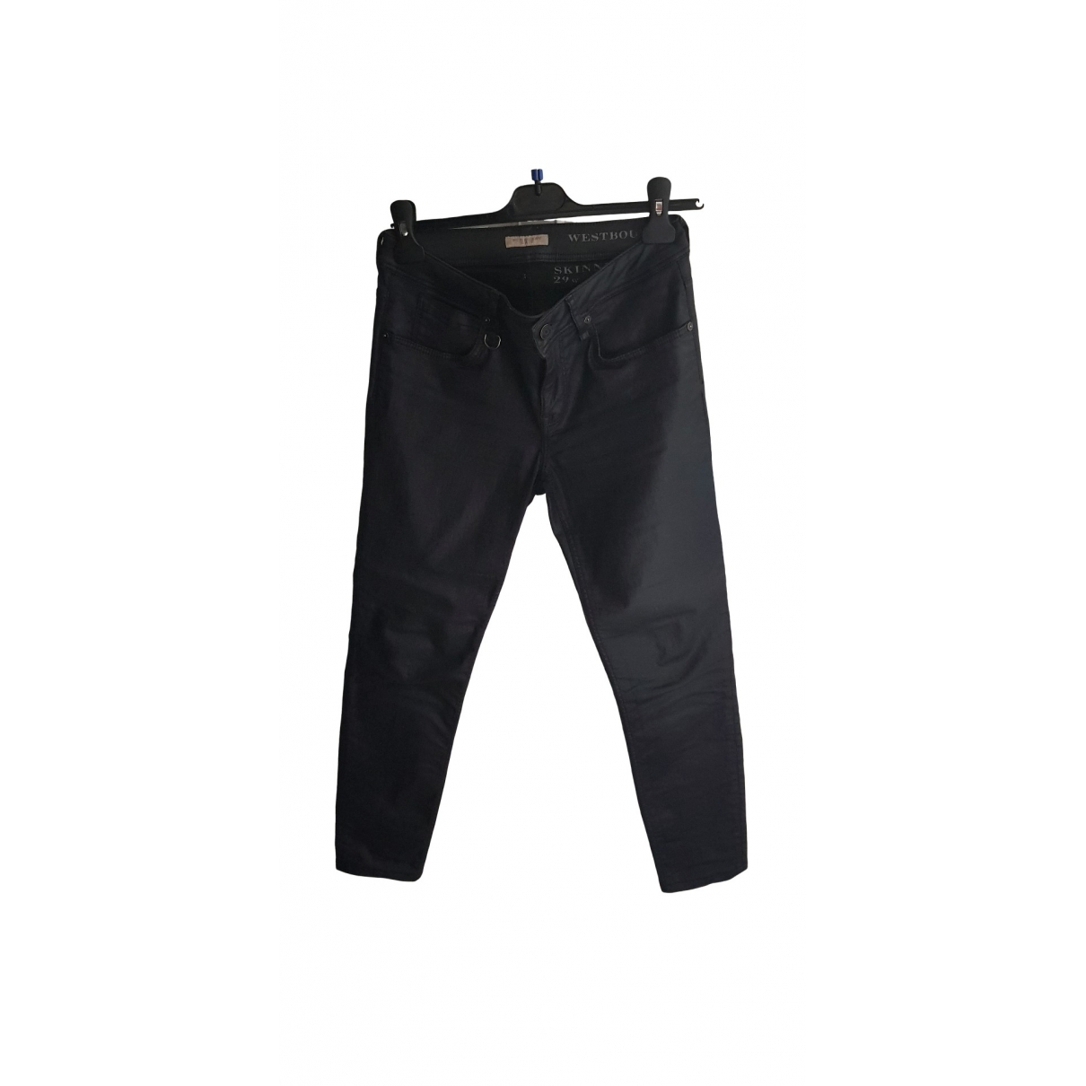 Burberry \N Blue Cotton Trousers for Women 38 FR