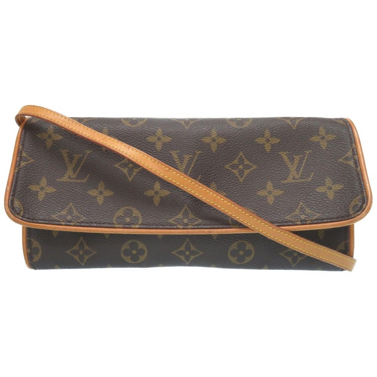 Louis Vuitton Twin Handtasche in  Braun Leinen