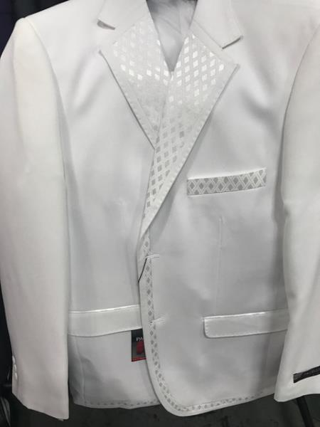 Mens 2 Button Vested White Tuxedo Unique Sateen Lapel Jacket Pants