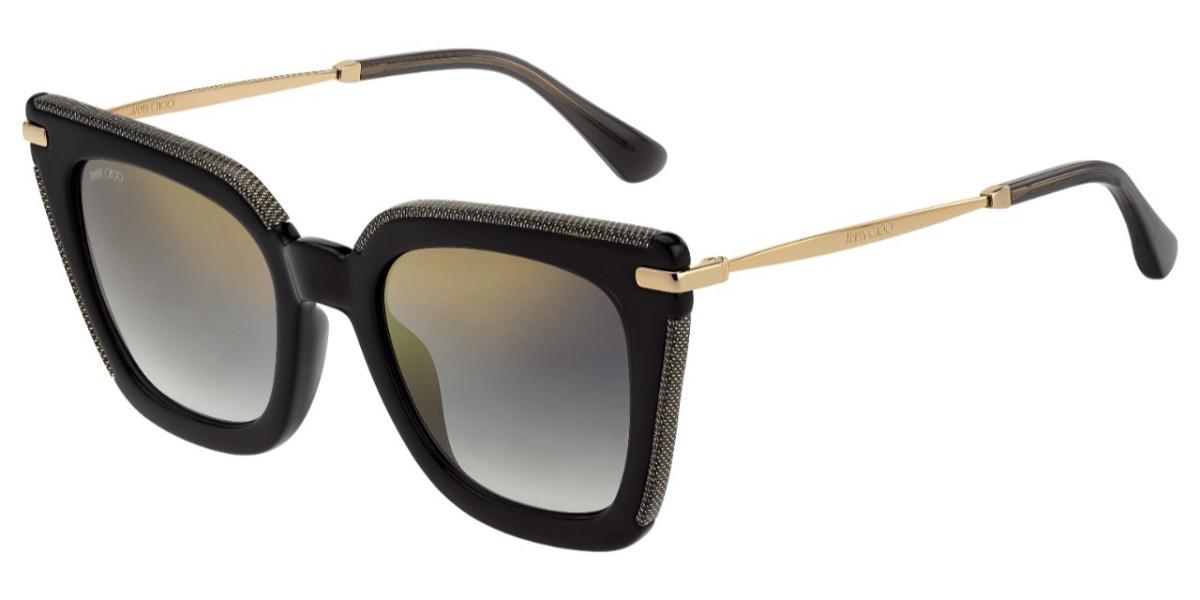 Jimmy Choo Ciara/G/S EIB/FQ Women's Sunglasses Black Size 52