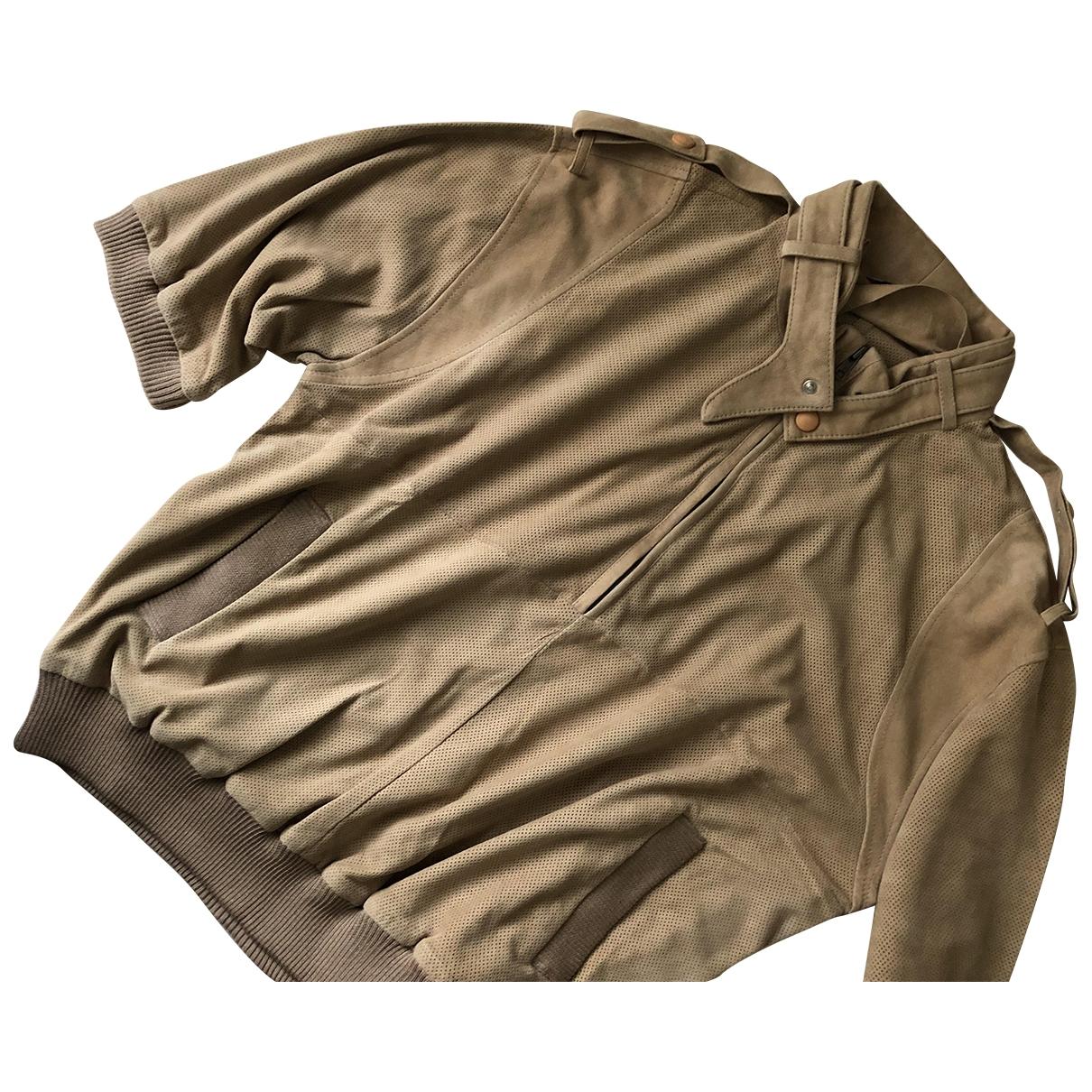 Sport Max \N Pullover.Westen.Sweatshirts  in  Beige Veloursleder