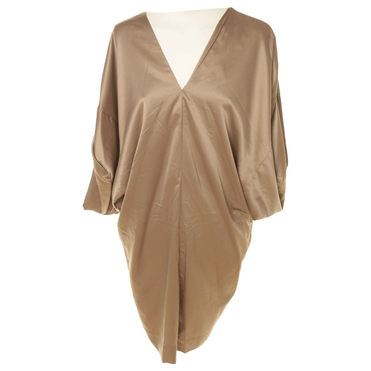 Maje - Robe   pour femme en soie - marron