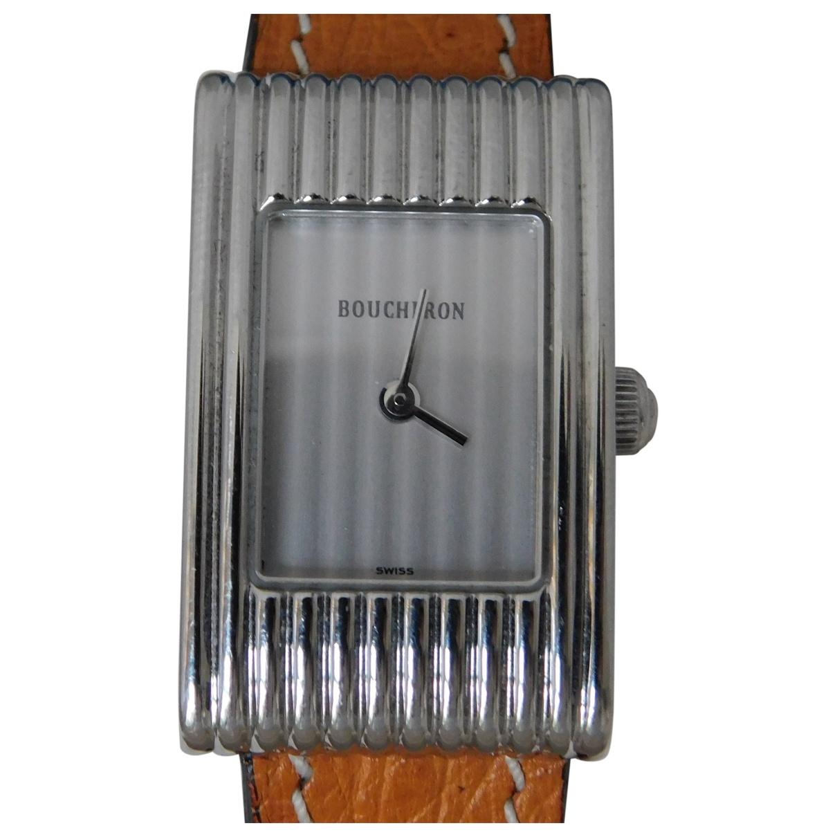 Boucheron Reflet Uhr in  Braun Stahl