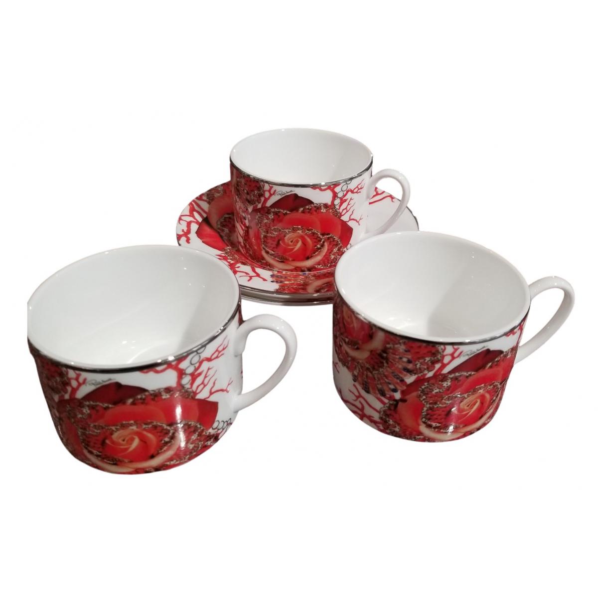 Roberto Cavalli - Arts de la table   pour lifestyle en porcelaine - rouge