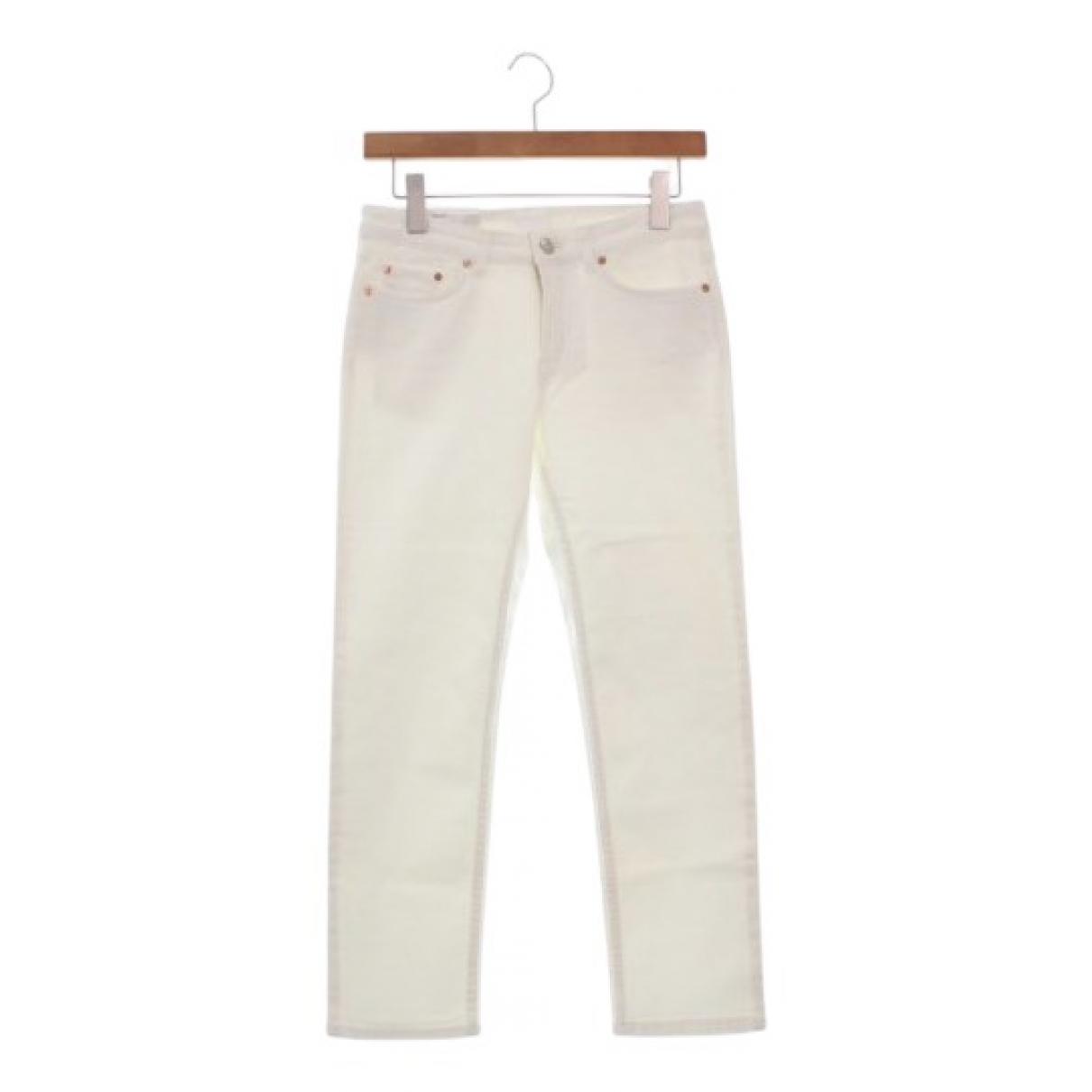 Acne Studios N White Cotton Trousers for Women 32 FR