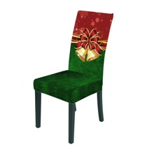 Christmas Bells Print Stretchy Chair Cover