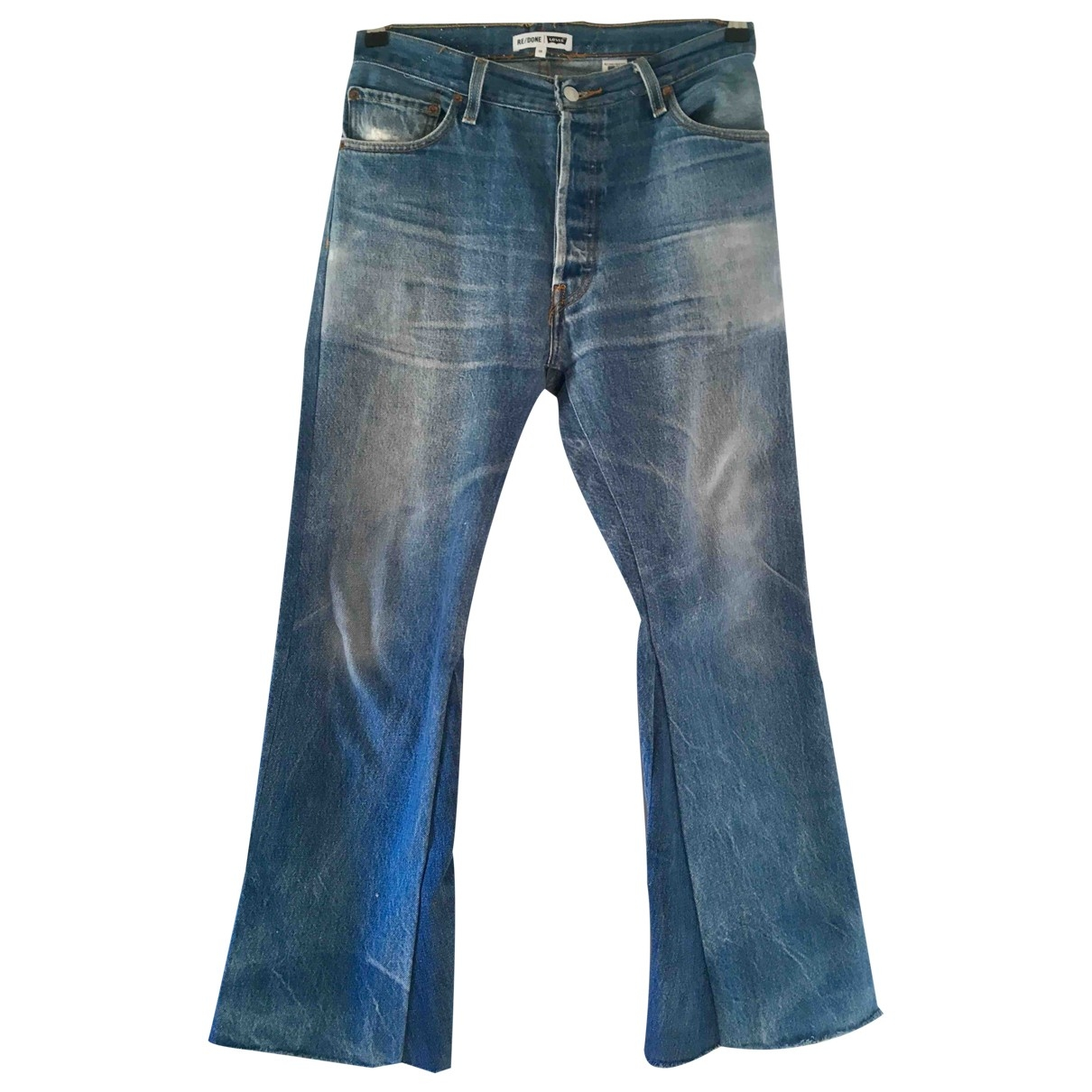 Re/done X Levi's \N Blue Cotton Jeans for Women 29 US
