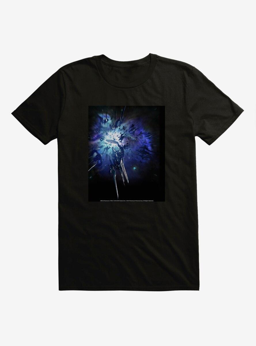 Star Trek Ship Blue Explosion T-Shirt