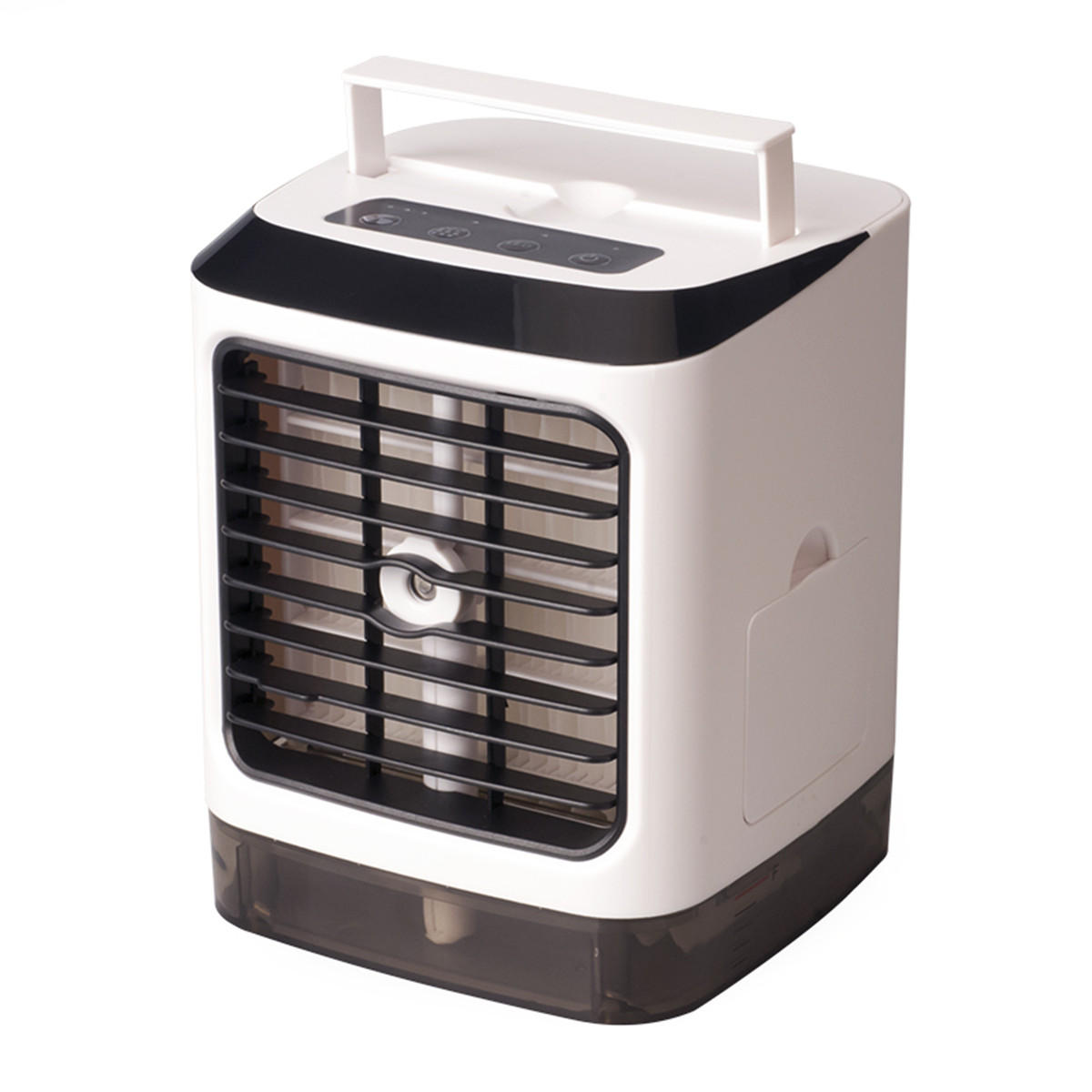 3 in 1 480ml White Mini Portable USB Air Cooler Humidifier Purifier Cleaner 4 Gears LED Light Personal Space Air Cooling