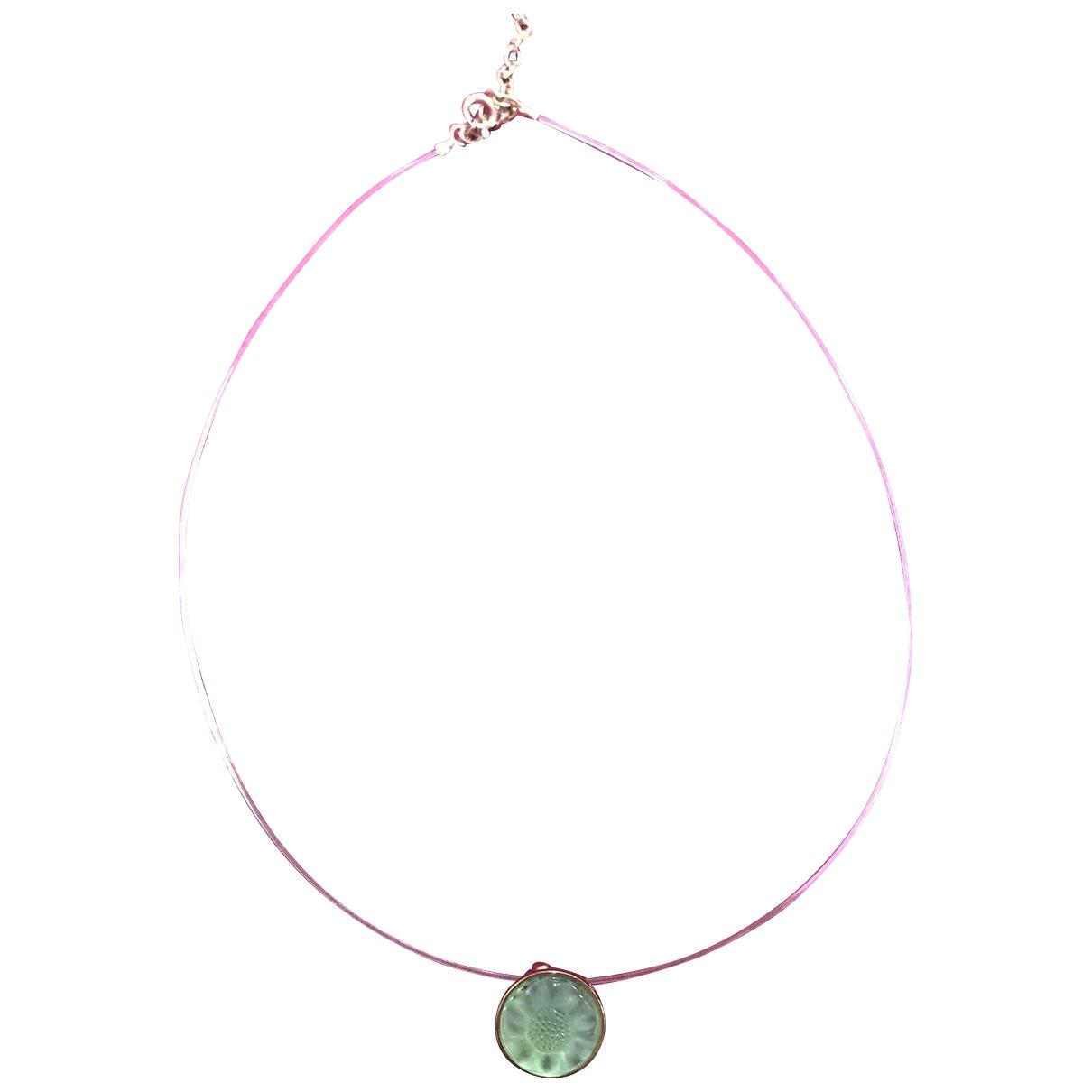 Lalique - Pendentif   pour femme en cristal - vert