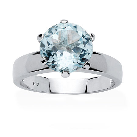 Womens Genuine Blue Topaz Sterling Silver Cocktail Ring, 8 , No Color Family
