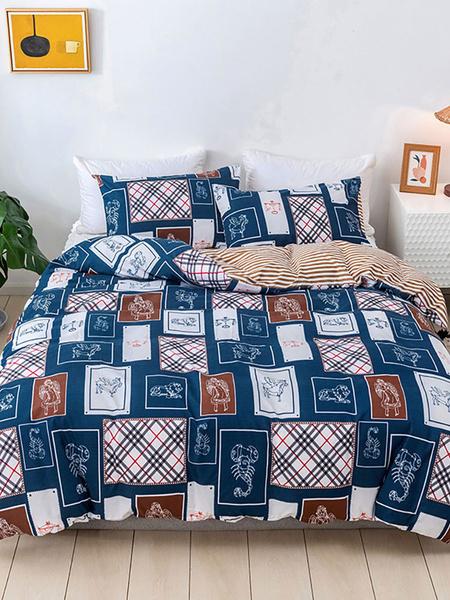 Milanoo Bedding Set Fashion 3-Piece Polyester Fiber Fashion Beddingroom Supplies