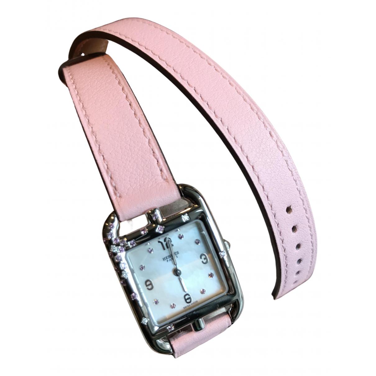Hermes Cape Cod Uhr in  Rosa Stahl