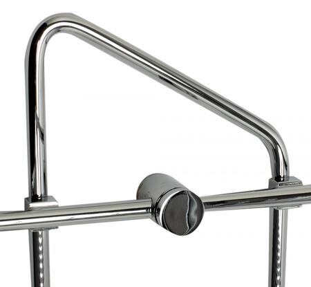 AB9532 Polished Chrome Corner Mounted Double Basket Shower Shelf Bathroom