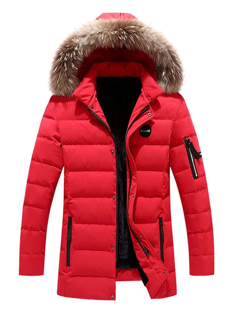 Ericdress Color Block Mid-Length Zipper Casual Men's Down Jacket