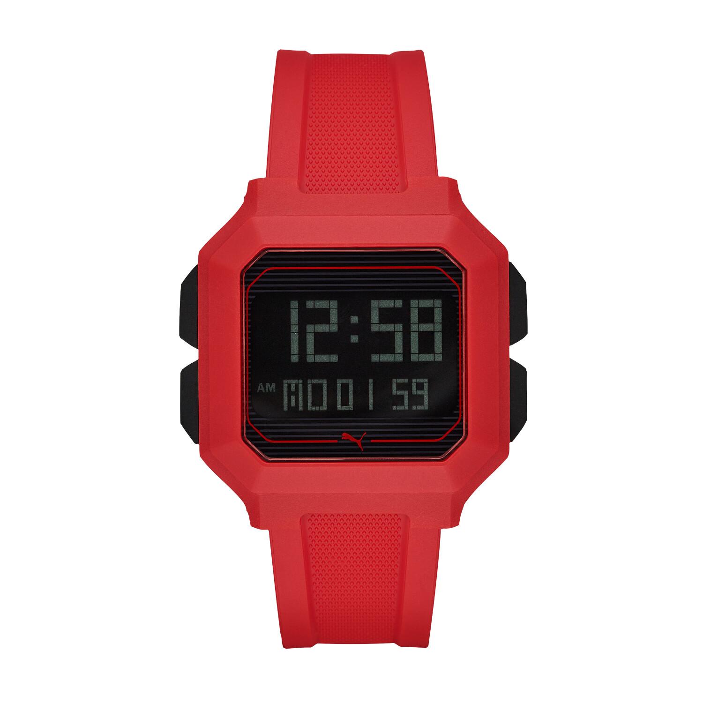 Puma Men's Remix P5019 Red Polyurethane Automatic Self Wind Fashion Watch