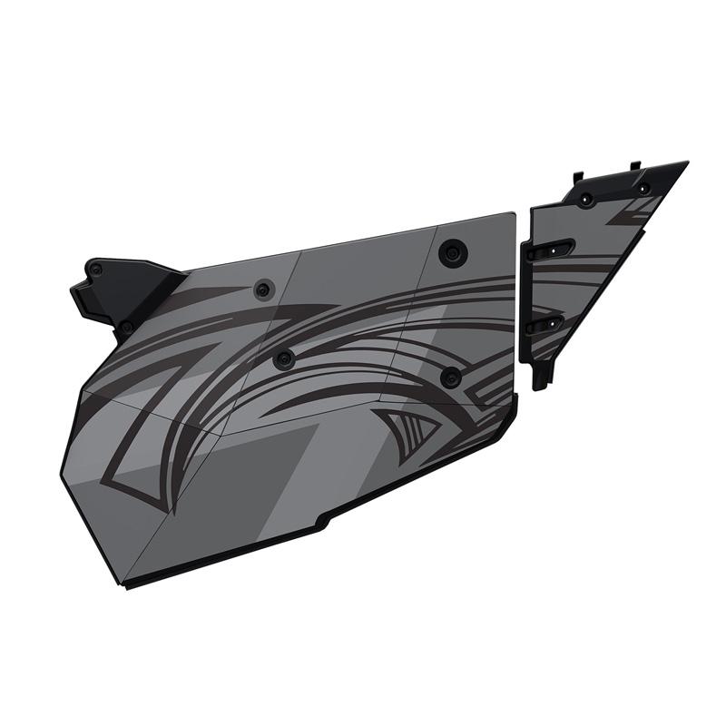 Polaris OEM 2882123 4-Seat Aluminum Door Graphic- Titanium