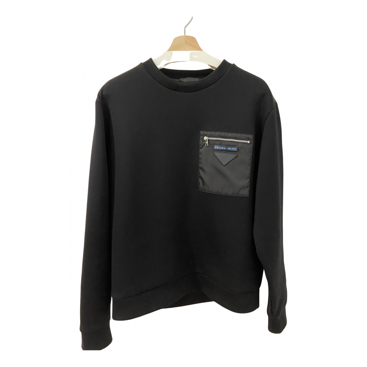 Prada \N Pullover.Westen.Sweatshirts  in  Schwarz Baumwolle