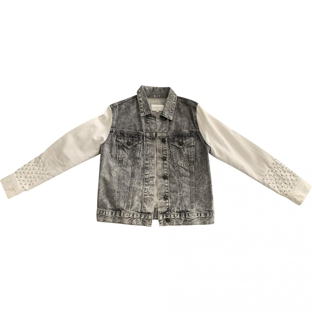Sandro \N Anthracite Denim - Jeans jacket for Women 1 0-5