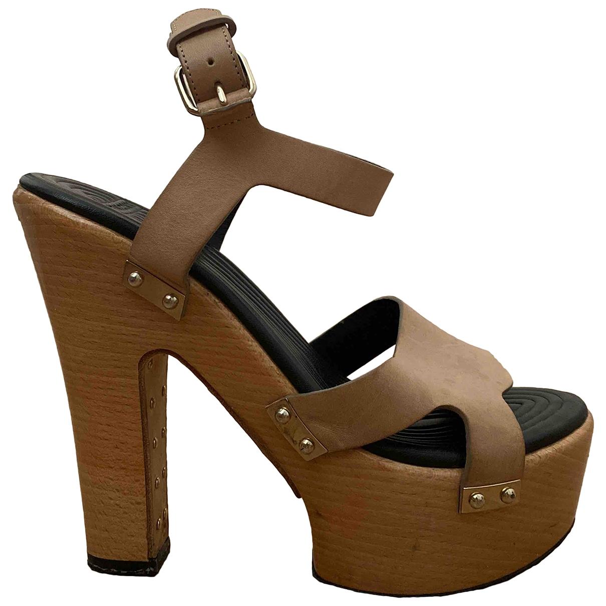 Givenchy - Sandales   pour femme en cuir - beige