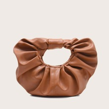 Top Handle Ruched Bag