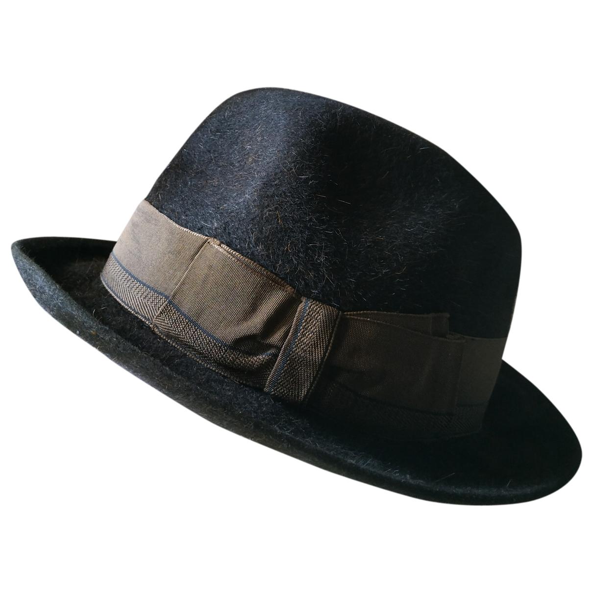 Borsalino - Chapeau & Bonnets   pour homme en cuir - marron