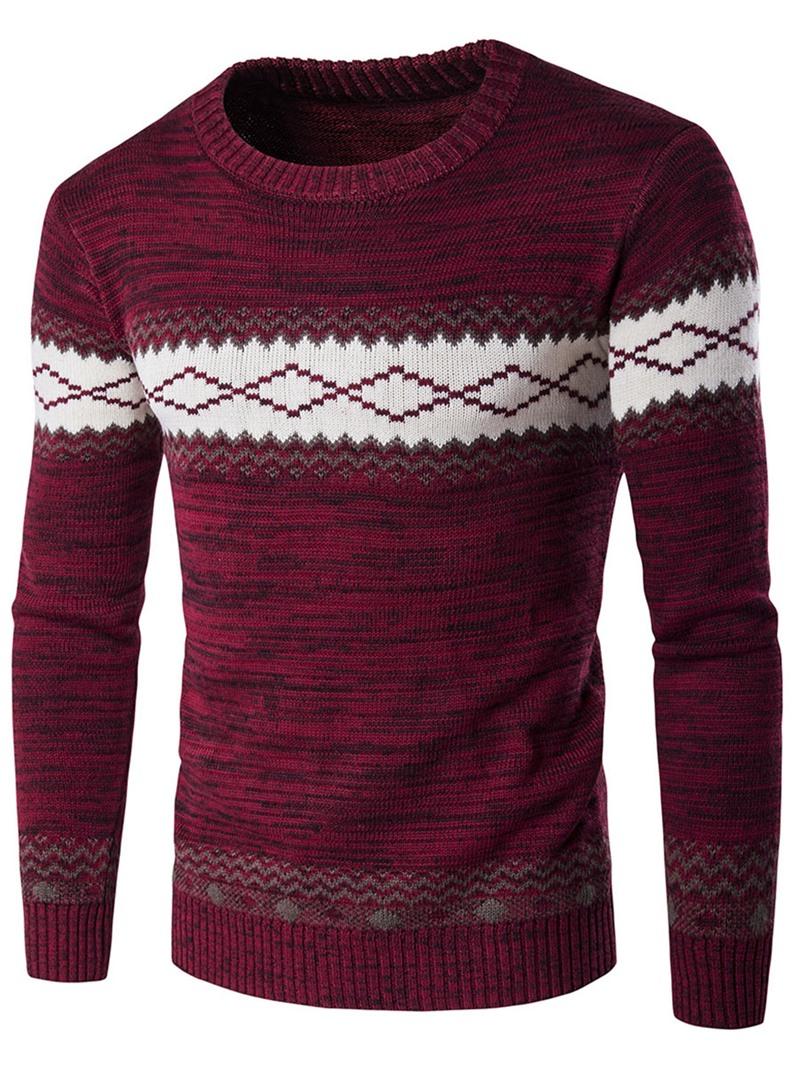 Ericdress Jacquard Vogue Pullover Men's Sweater