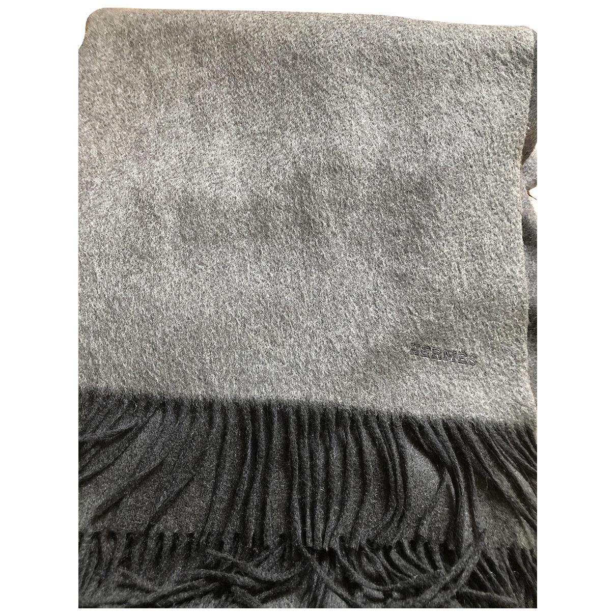 Hermes - Linge de maison   pour lifestyle en cachemire - gris
