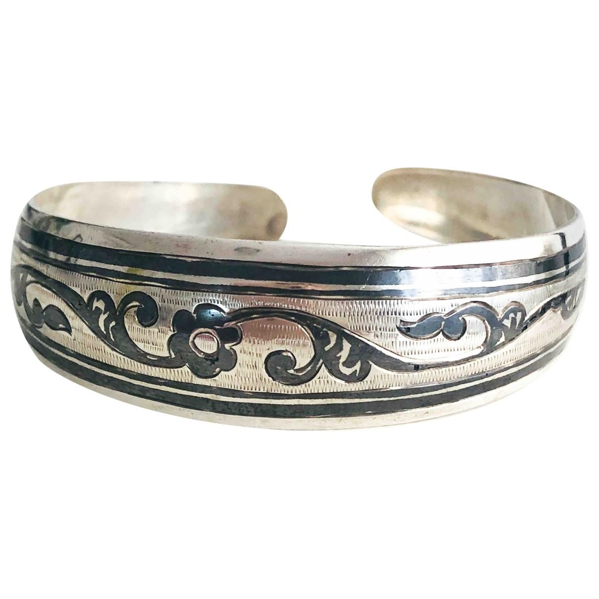 - Bracelet Art Deco pour femme en argent - multicolore
