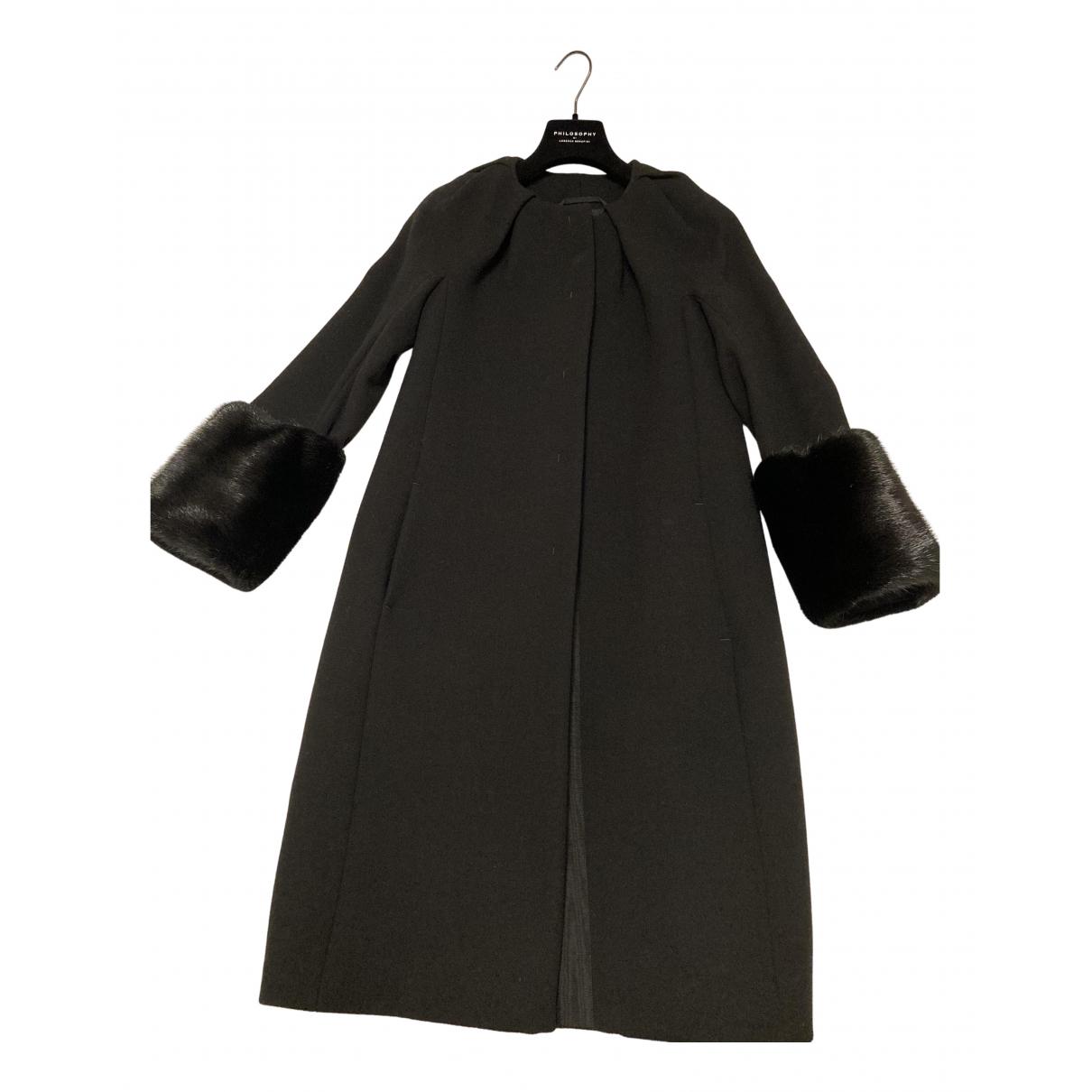 Max Mara - Manteau Max Mara Atelier pour femme en laine - noir