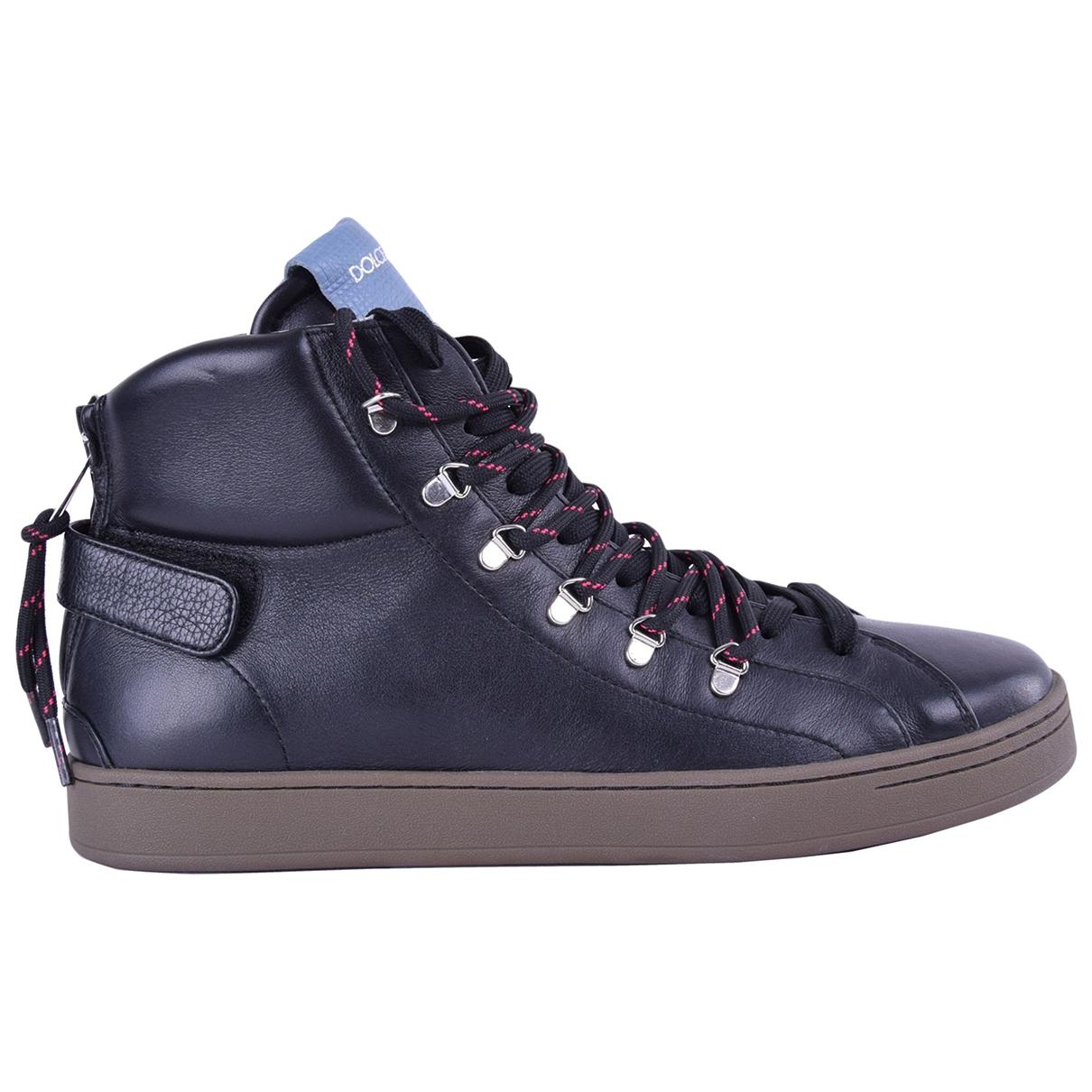 Dolce & Gabbana \N Sneakers in  Schwarz Leder