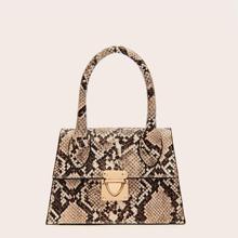 Mini Tasche mit Schlangenleder Muster