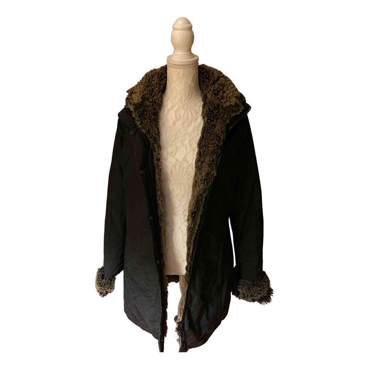 Woolrich - Manteau   pour femme en coton - noir