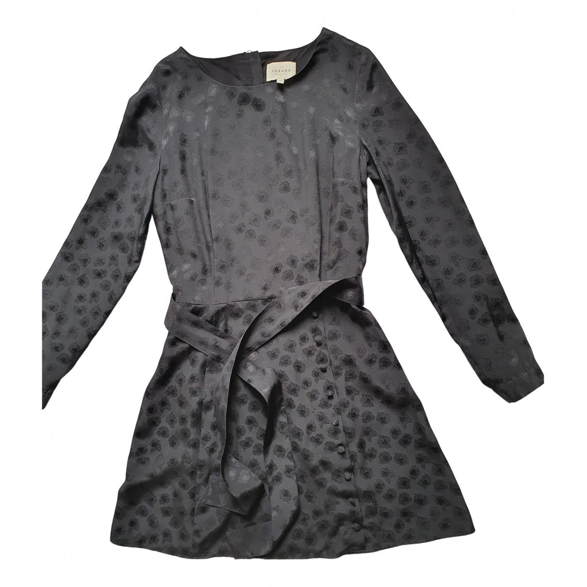 Sezane - Robe Fall Winter 2019 pour femme en soie - noir