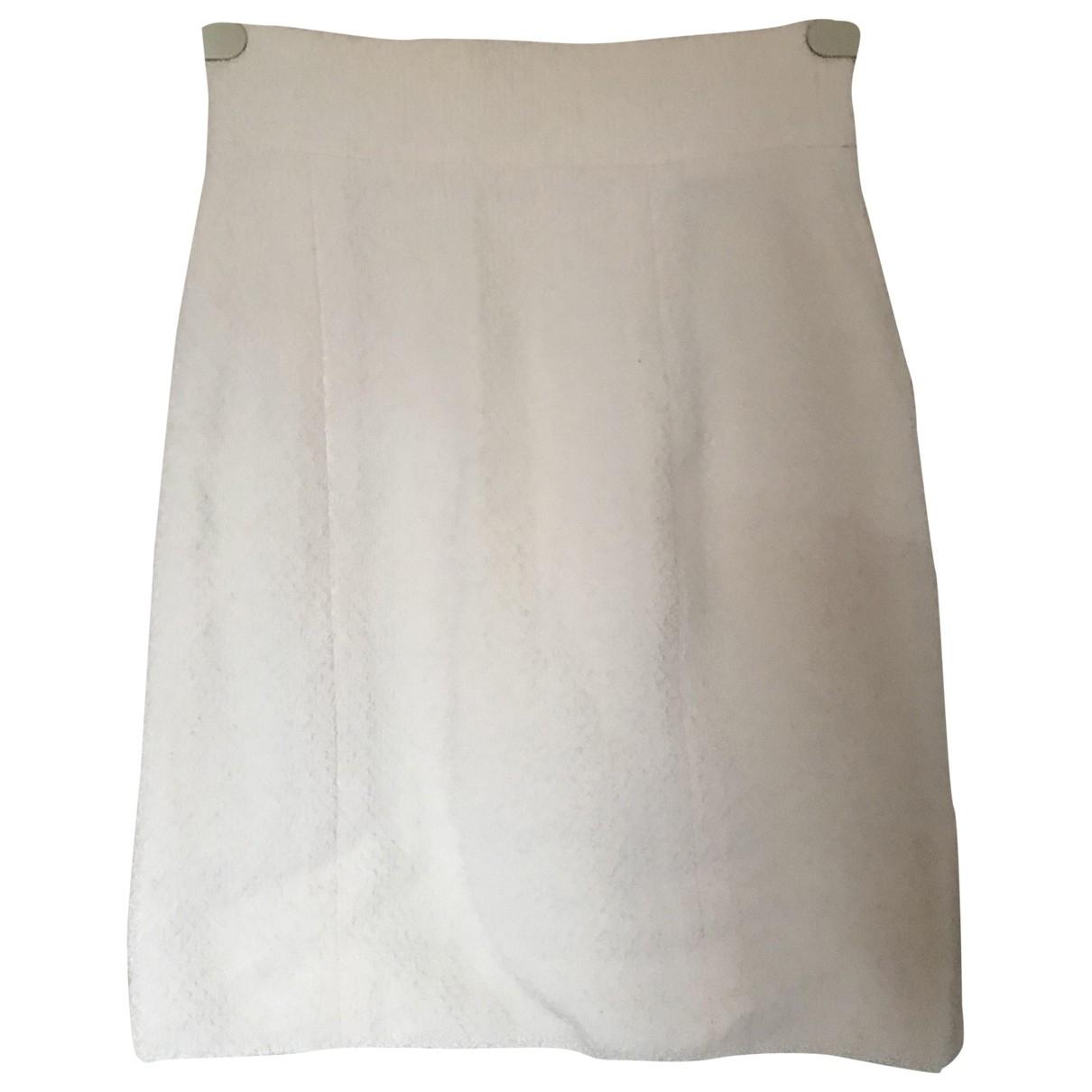 Chanel \N White Wool skirt for Women 36 FR