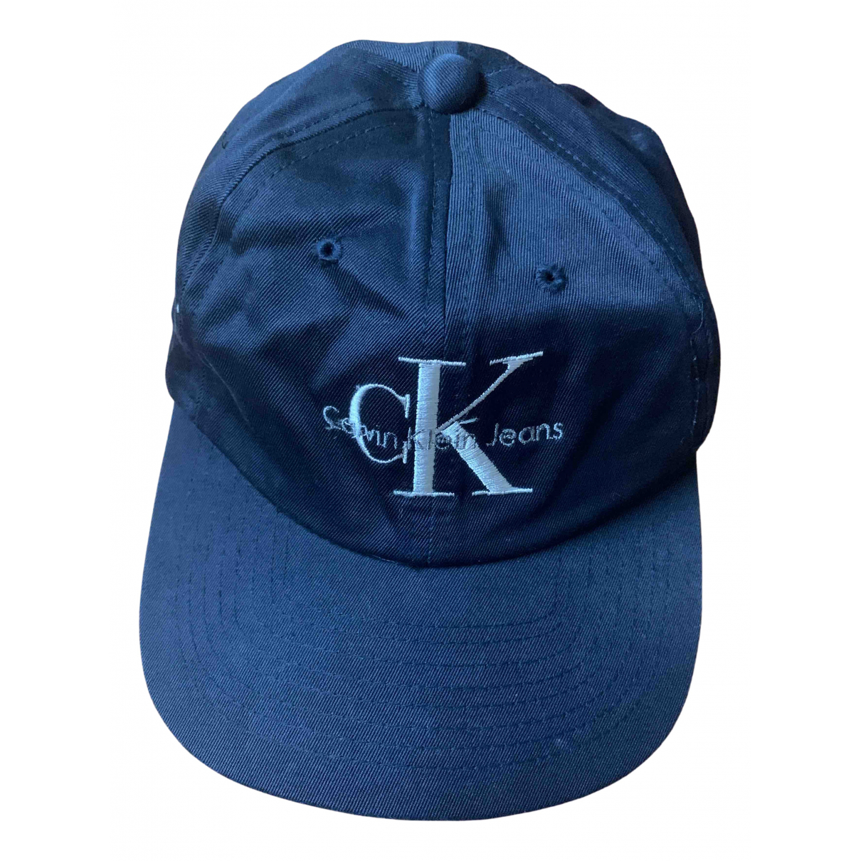 Calvin Klein - Chapeau   pour femme en coton - bleu