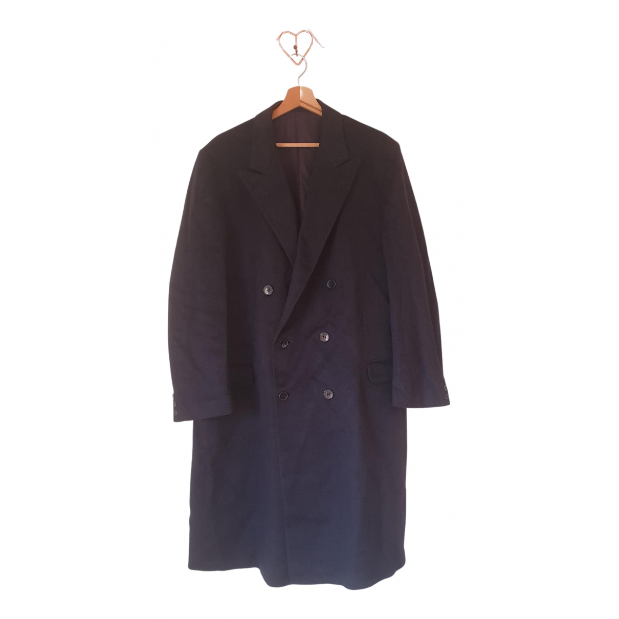 Non Signé / Unsigned N Blue Wool coat  for Men XL International