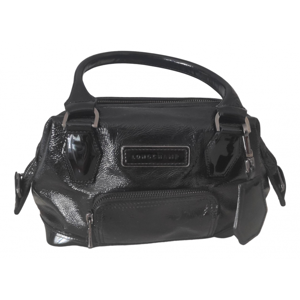 Longchamp - Sac a main Legende pour femme en cuir verni - noir