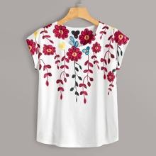Grosse Grossen - T-Shirt mit Blumen Muster