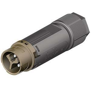 Wieland RST Mini Series, Male 3P Pole 1 Way Mini Connector, Cable Mount, with Strain Relief, Rated At 16A, 120 V, Brown