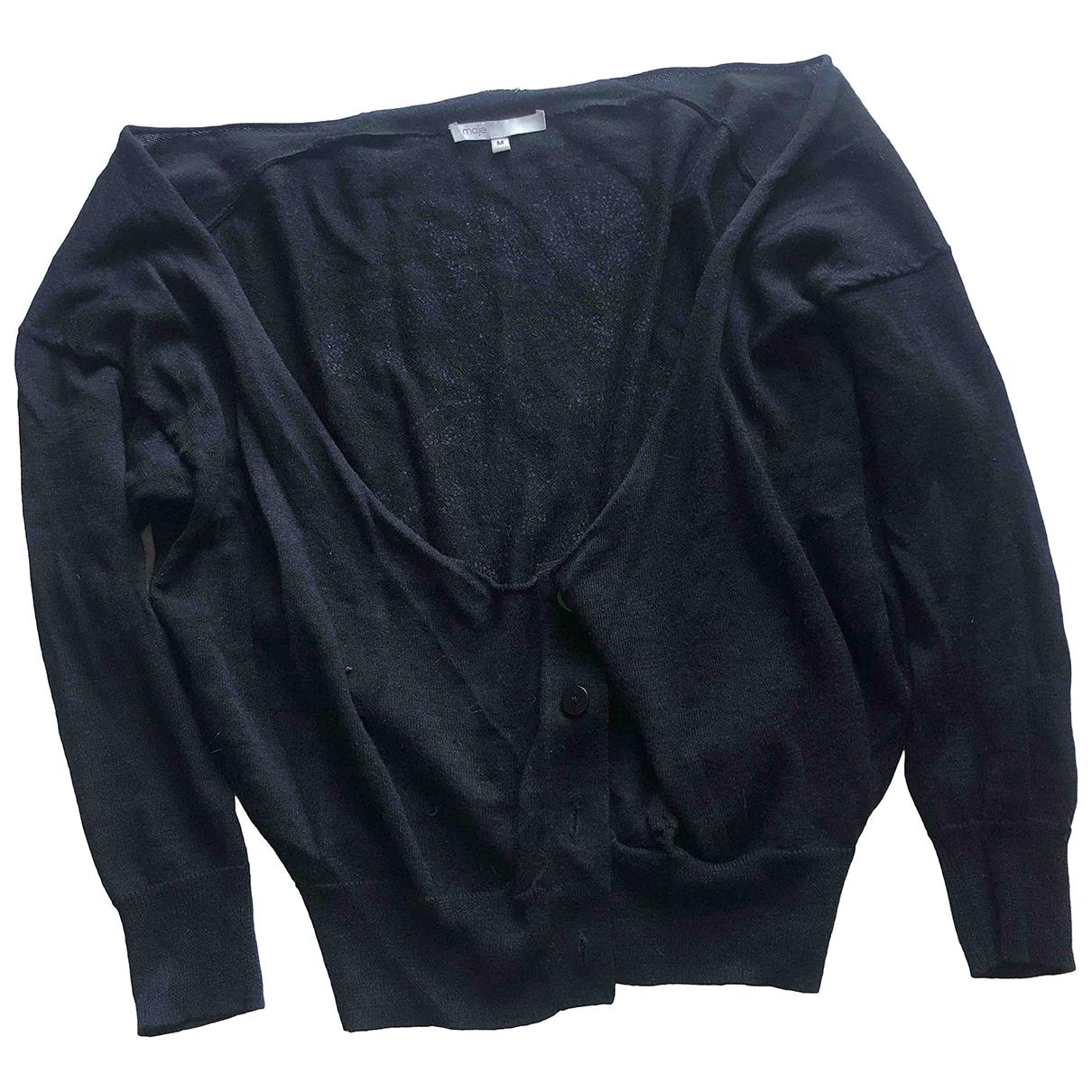 Maje \N Black Linen Knitwear for Women M International