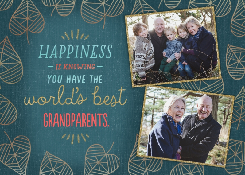 Grandparent's Day 5x7 Folded Cards, Premium Cardstock 120lb, Card & Stationery -Greatest Grandparents by Hallmark