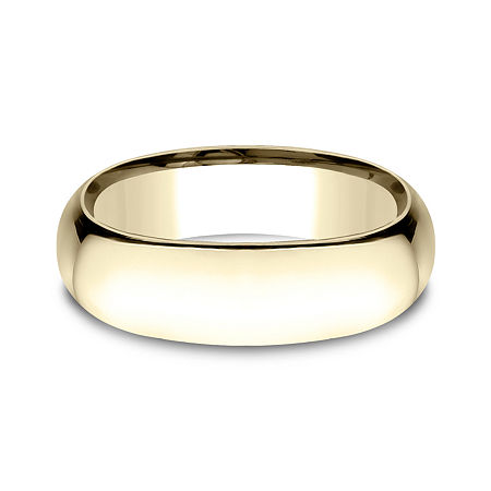 Mens 14K Yellow Gold 7MM Light Comfort-Fit Wedding Band, 10 , No Color Family