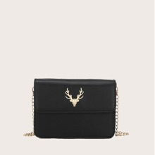 Deer Head Decor Crossbody Bag