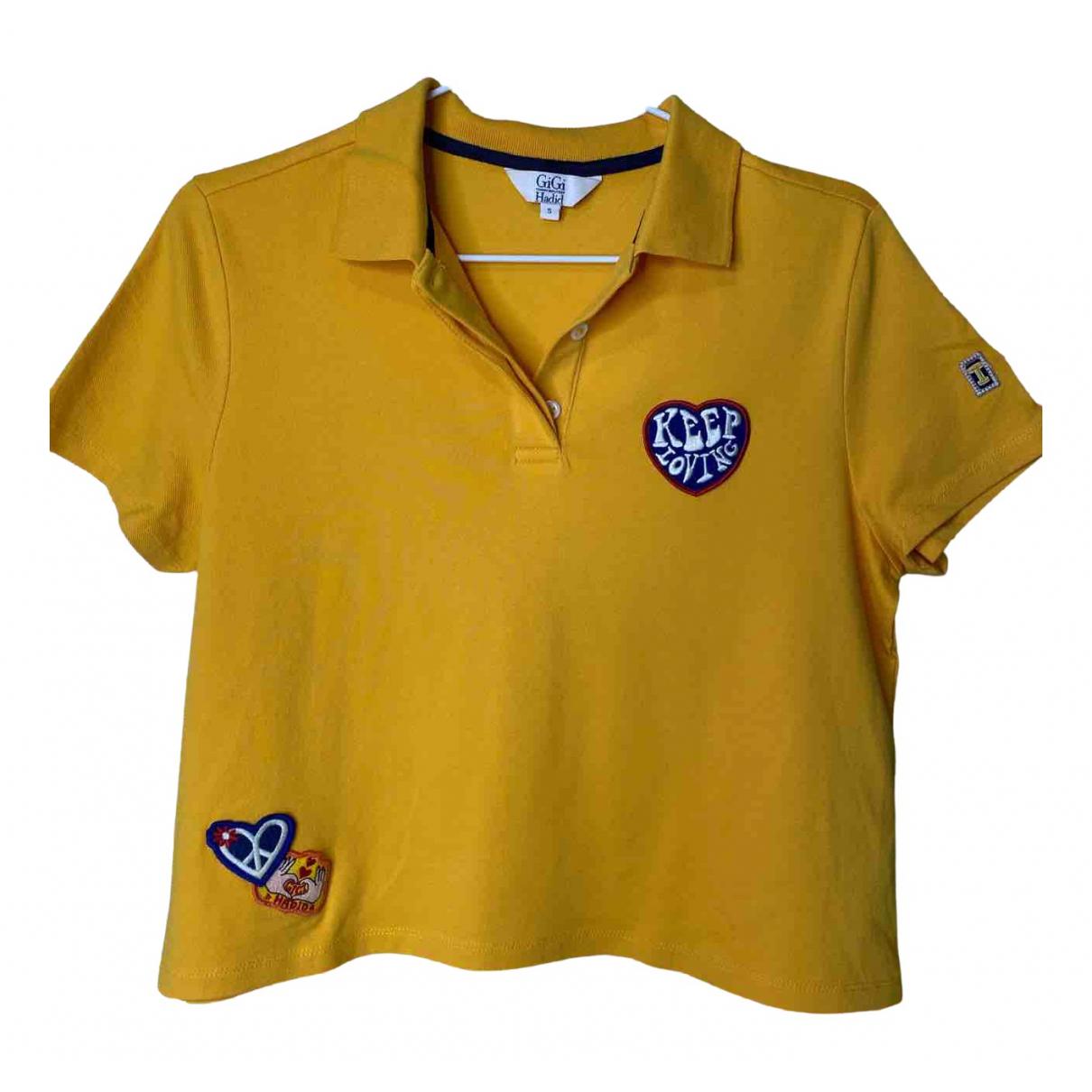 Gigi Hadid X Tommy Hilfiger \N Yellow Cotton  top for Women S International